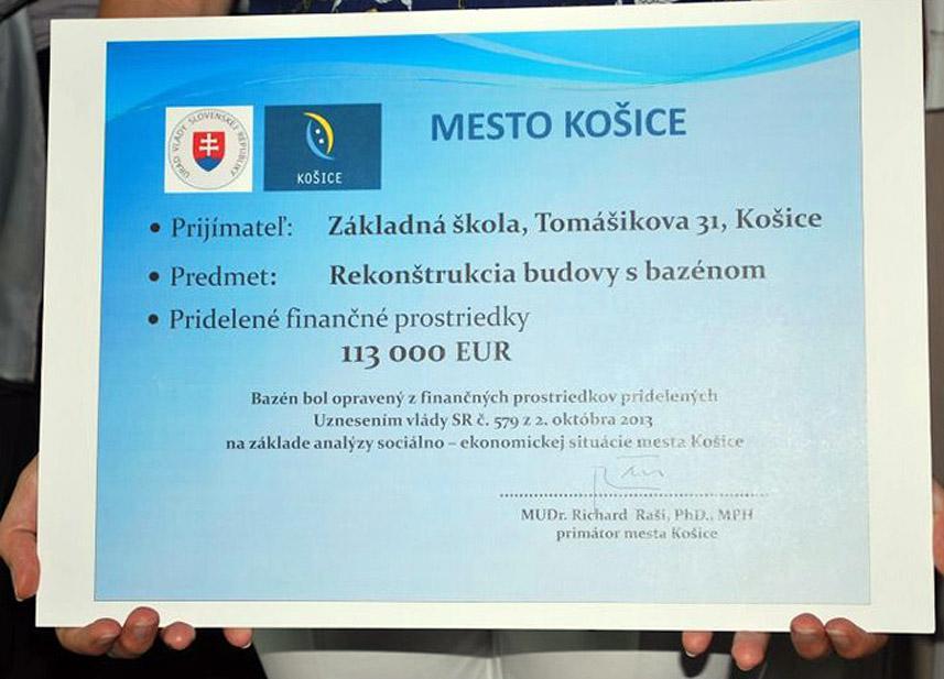 Reference SK Základní škola Košice