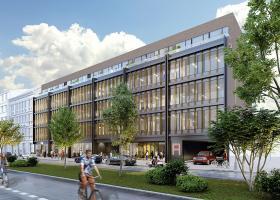 <p>Administrativní objekt je součástí Holešovického projektu Astrid Garden s prestižní certifikací LEED Gold.</p>