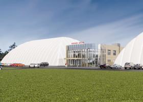<p>Sportovní a fitness areál na ploše 1385 m2 nabízí umělou ledovou plochu, sportovní halu a tělocvičnu.</p>