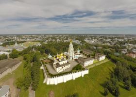 <p>Obnovený a rekonstruovaný chrámový komplex v historickém centru Kostromy.</p>