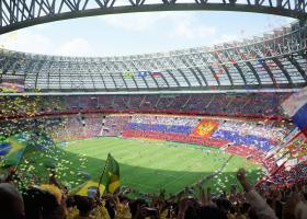<p>Stadion Lužniki v Moskvě je největší sportovní stadion v Rusku.</p>