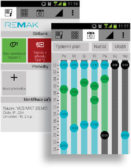 REMAK application GUI